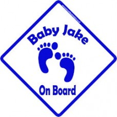 Personalised Child//Baby On Board Car Sign ~ Mummys Little Girl On Board ~ Blonde