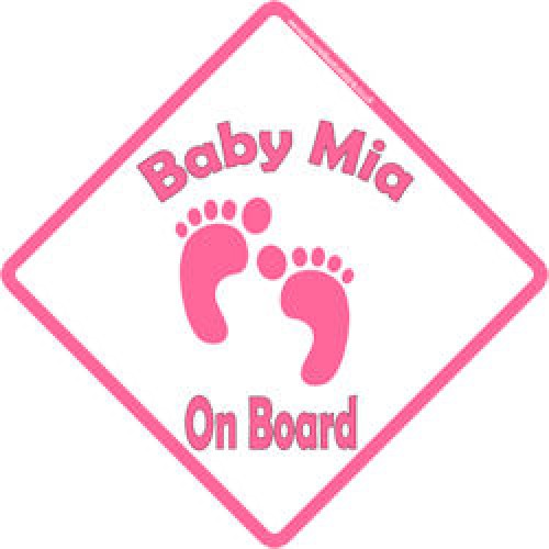 personalised baby on board signs baby footprints girl
