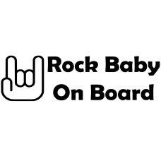 Rock Baby Car Decal Sticker
