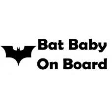 Bat Baby Car  Decal Sticker