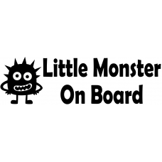 Little Monster Car Sticker