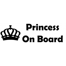 Princess Crown Car Sticker